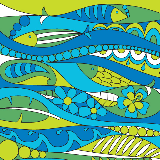 Room Creative Summer Pop 60s Fish Detail