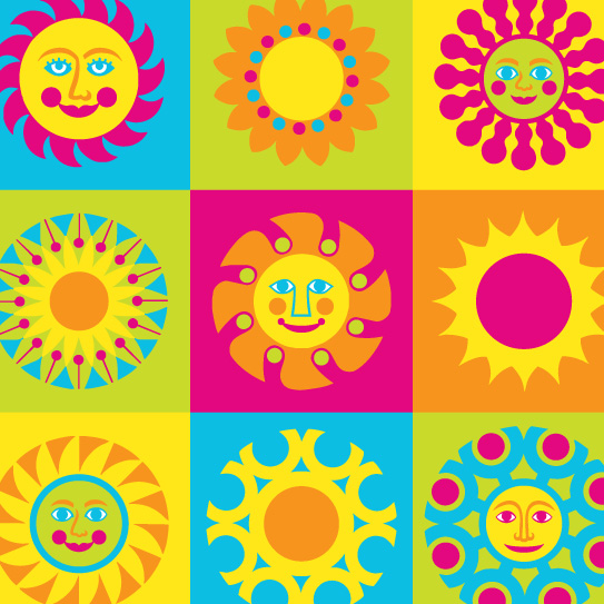Room Creative Summer Pop Suns Detail